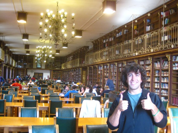 Checking out the ¨Harry Potter Library¨ with Ana