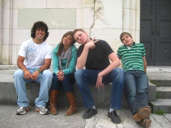 Me, Jenna, Manu, Felix