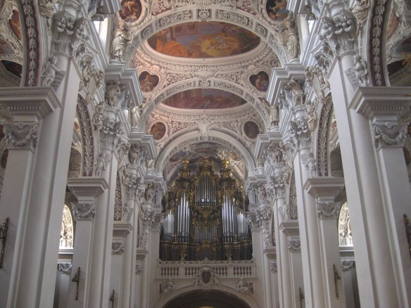The inside of the Cathedral of Passau