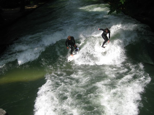 The River Surfers in the English Park.