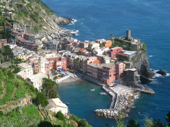 Vernazza, from the hiking trail.