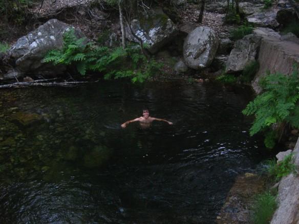 Post-hike swim.
